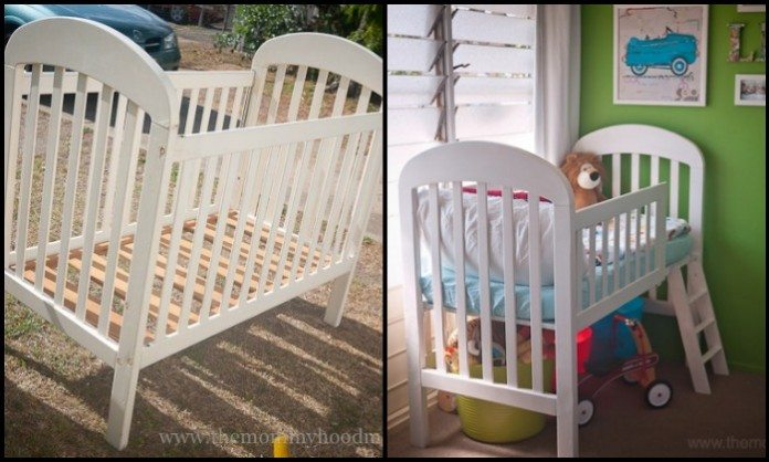 Crib Turned Toddler Bed Main Image