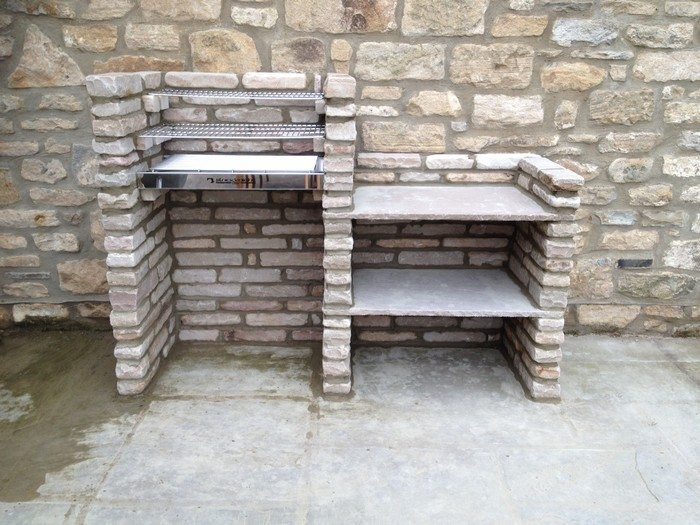 Build a brick barbecue for your backyard diy projects for everyone - Building an outdoor brick barbecue ...