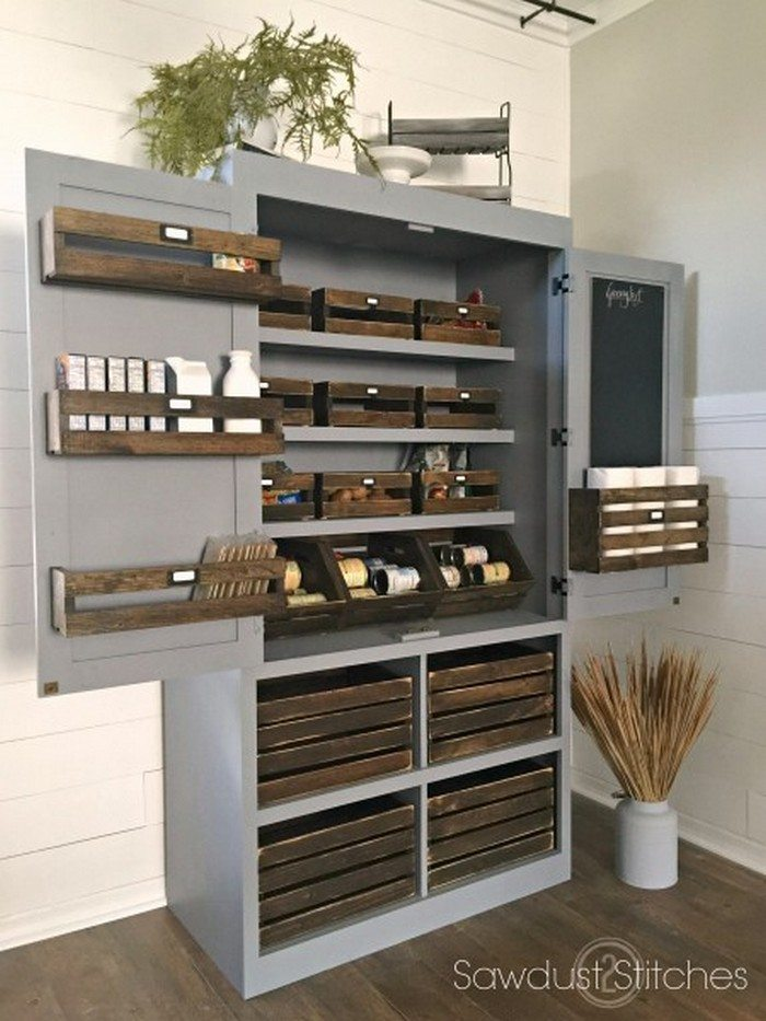Build a freestanding pantry diy projects for everyone for Free standing kitchen ideas