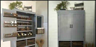 DIY Free Standing Kitchen Pantry Main Image