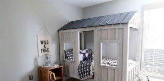 DIY Kids Cabin Bed