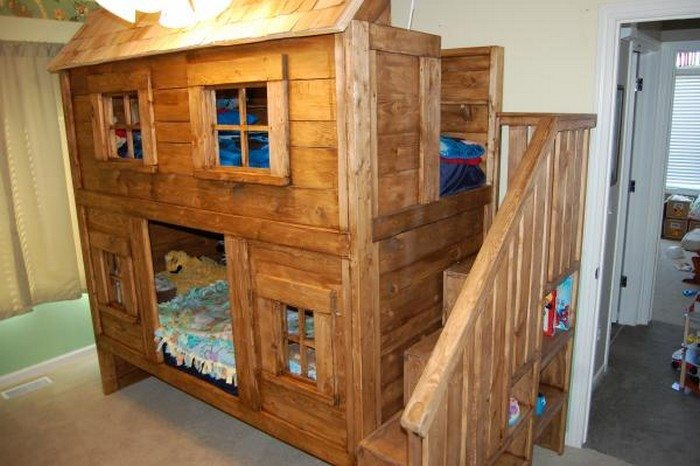 DIY Kids Cabin Bed