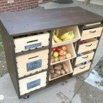 DIY Kitchen Island Wooden Crate Pantry Storage