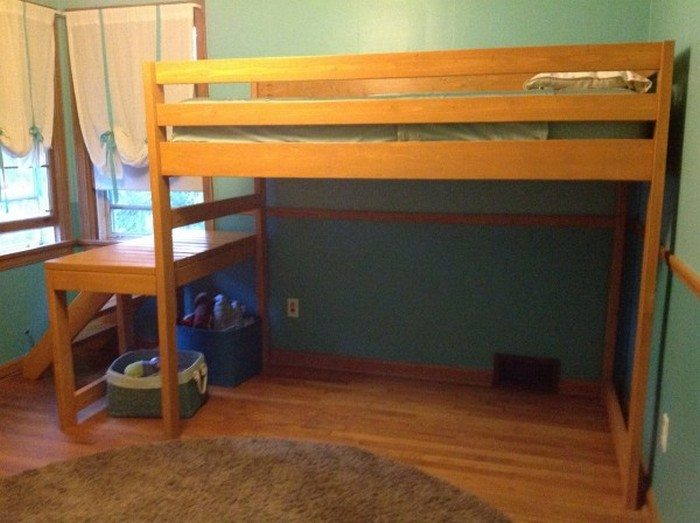 How to build a loft bed with stairs diy projects for for Ideas for closing off a loft