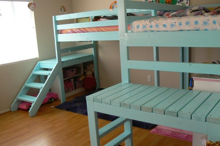 how to build a loft bed with stairs diy projects for everyone. Black Bedroom Furniture Sets. Home Design Ideas