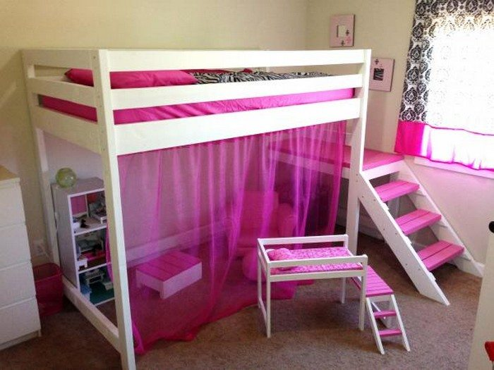 How To Build A Loft Bed With Stairs Diy Projects For