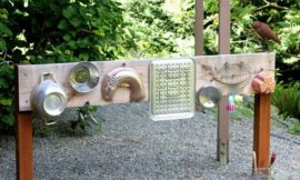 How to build an outdoor musical wall for kids