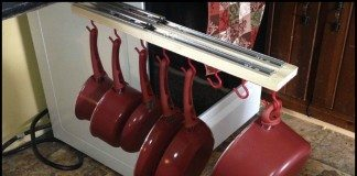 DIY Sliding Pots and Pans Rack