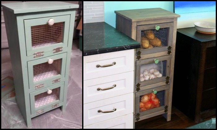 How to build a vegetable bin cupboard