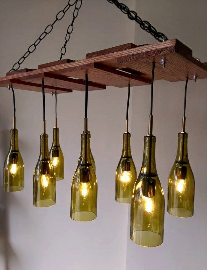 How to build a wine bottle chandelier : DIY projects for everyone!