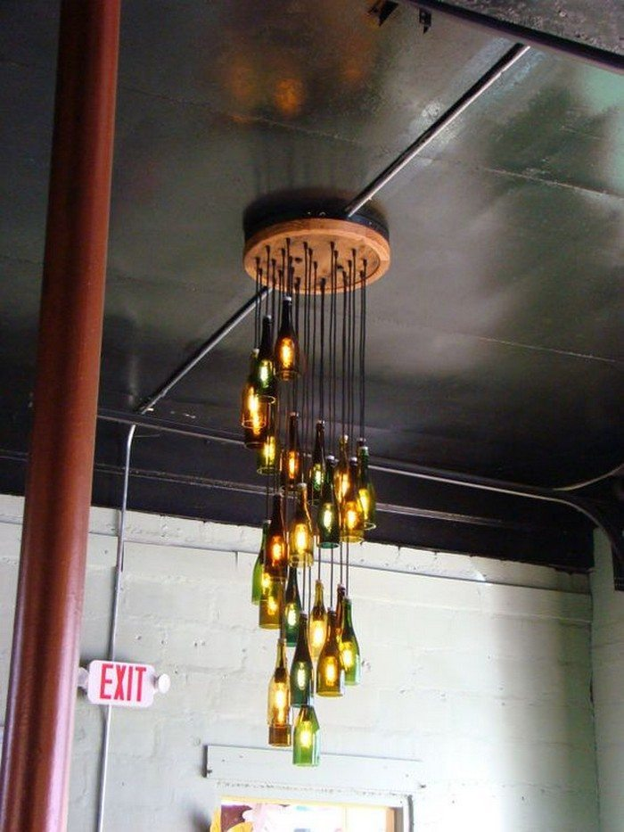 how to build a wine bottle chandelier diy projects for. Black Bedroom Furniture Sets. Home Design Ideas