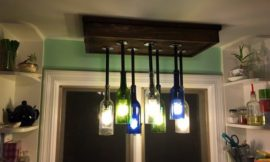 How to build a wine bottle chandelier