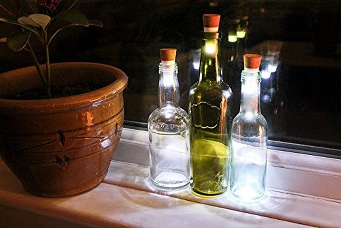 Glass Bottle Decorative Lantern