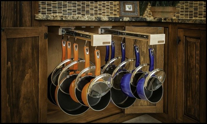 Glideware Sliding Pots and Pans Rack
