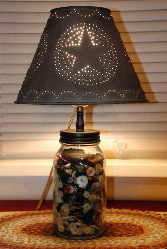 Diy projects with mason jars - How To Make A Mason Jar Lamp Diy Projects For Everyone