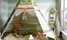 How to make a no-sew teepee tent for kids