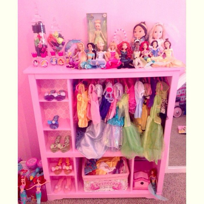 Princess Toys Box Storage Kids Girls Chest Bedroom Clothes: Turn An Entertainment Center Into A Kids' Armoire