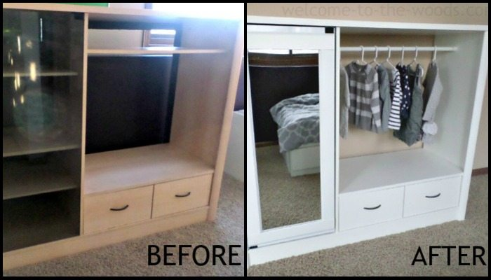 Turn An Entertainment Center Into A Kids Armoire Diy