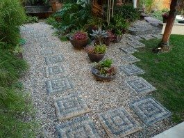 Pebble Mosaic Stepping Stone
