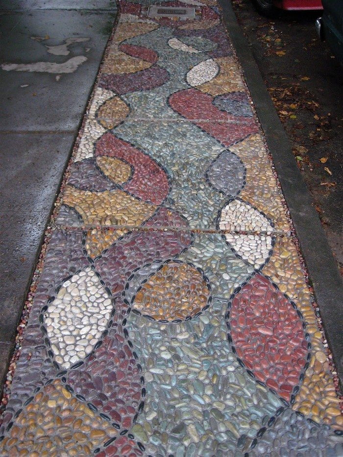 Pebble Mosaic Stepping Stone