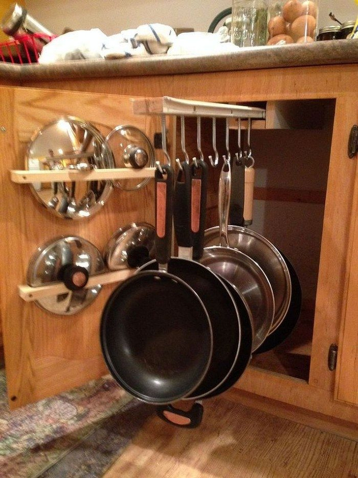 DIY sliding pots and pans rack | DIY projects for everyone!