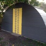 Trampoline Frame Turned Shed