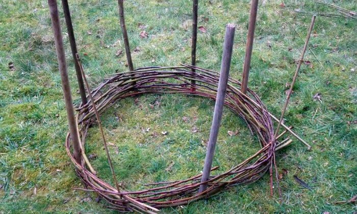 Wattle Raised Bed Garden