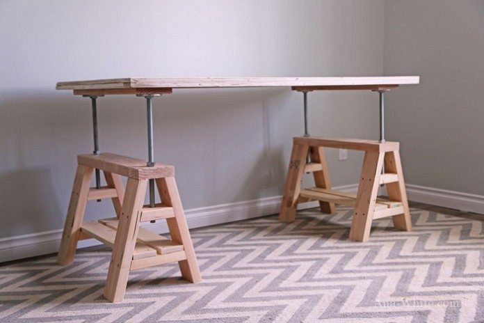 Adjustable Sawhorse Desk