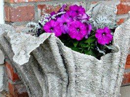 Cement Towel Planter Main Image