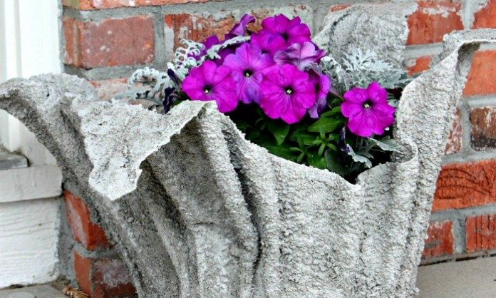 Cement Towel Planter Main Image