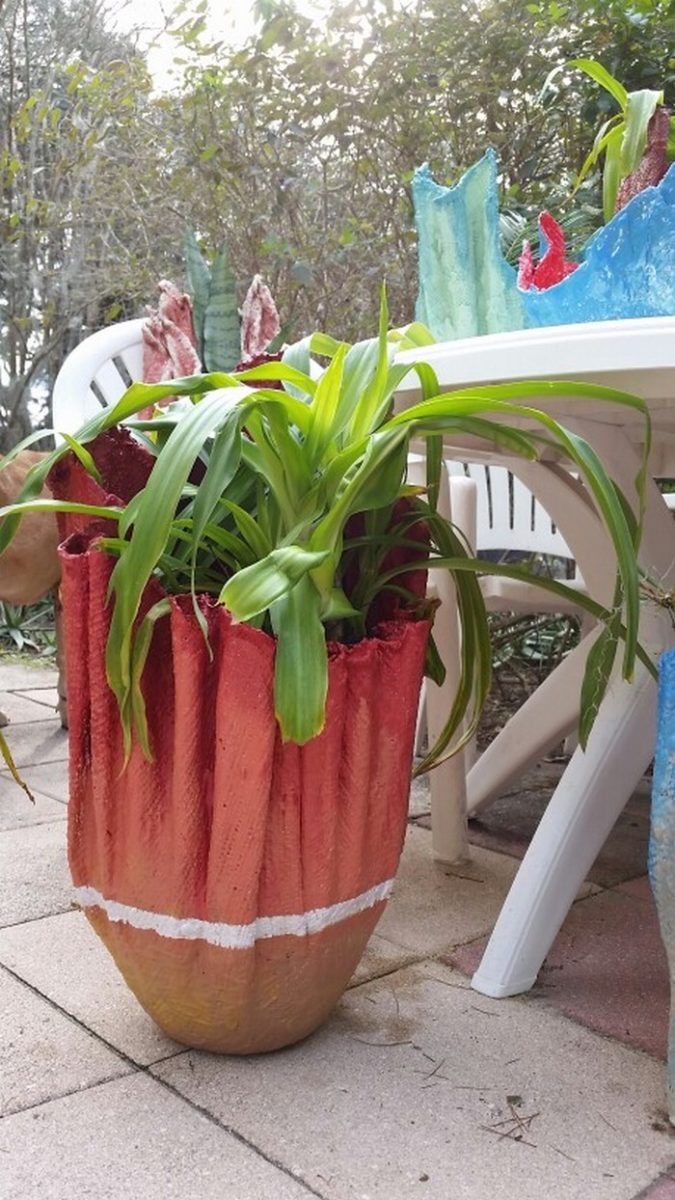 A Planter From An Old Towel Diy Projects For Everyone