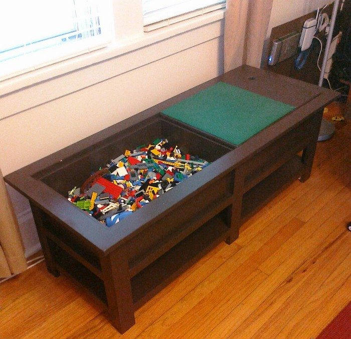 Build Your Own Coffee Table With Storage: Coffee Table With Lego Storage