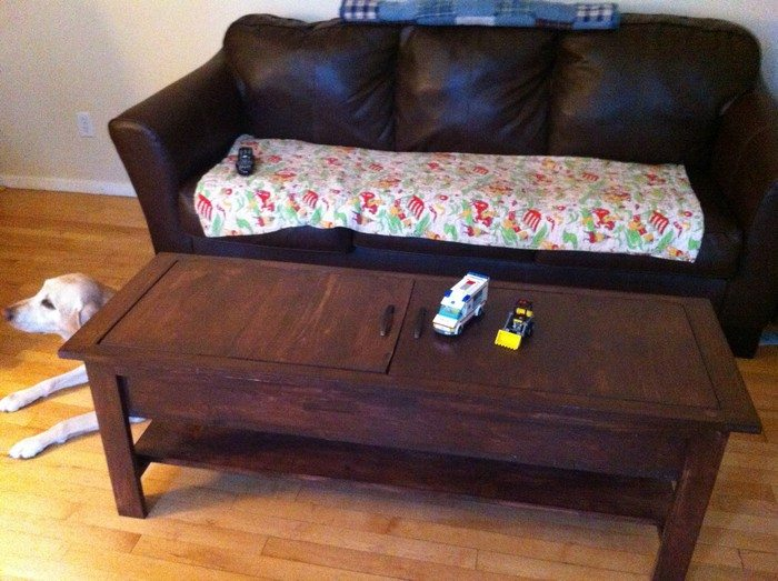 coffee table with lego storage diy projects for everyone. Black Bedroom Furniture Sets. Home Design Ideas