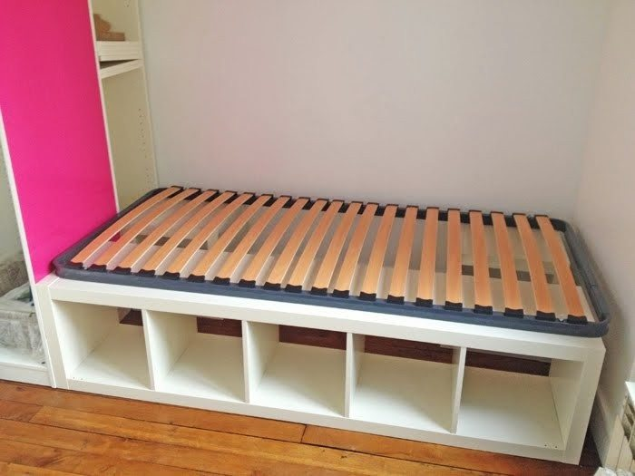Build an inexpensive bed with storage using bookcases  DIY projects