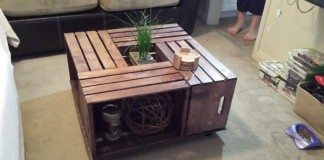 DIY Crate Coffee Table Steps Photo