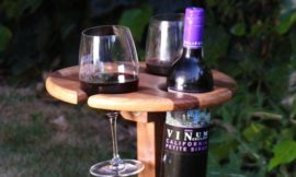Build a portable wine table for picnics