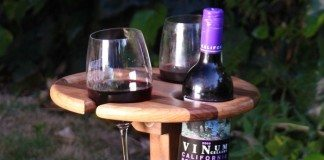 DIY Folding Wine Table for Picnics Featured