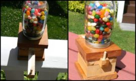 How to make a jelly bean dispenser