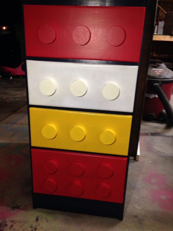 How To Build A Lego Themed Dresser Diy Projects For Everyone