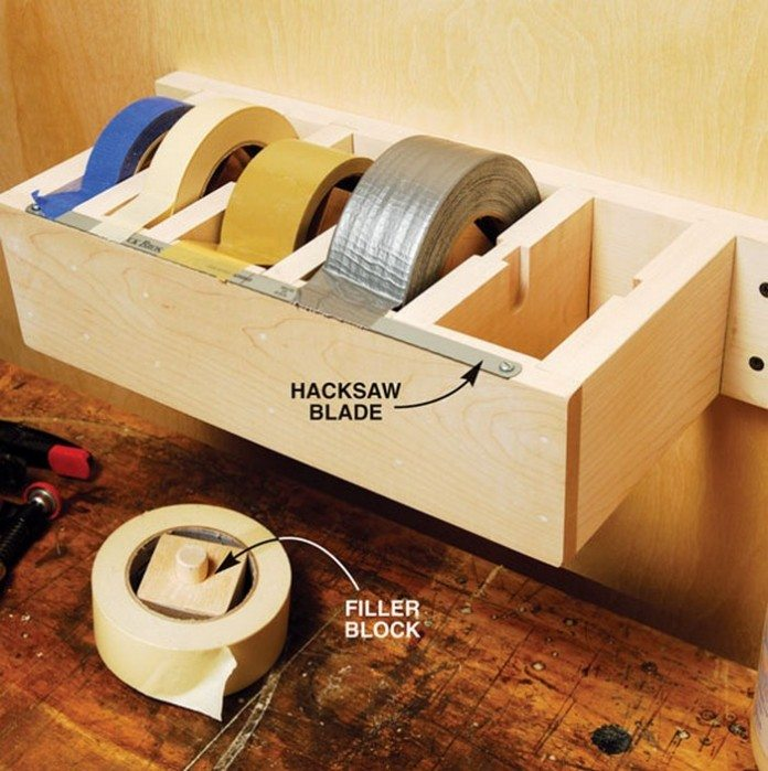DIY Multi-Roll Tape Dispenser