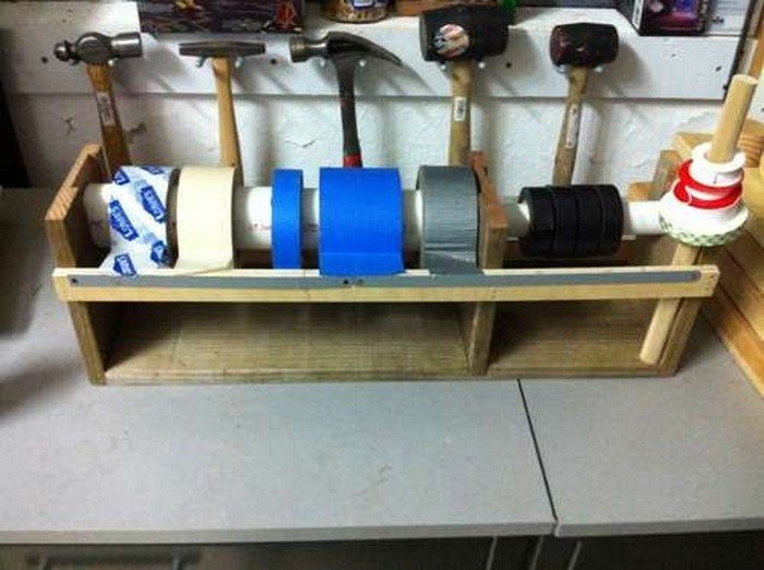 How To Build A Multiple Roll Tape Dispenser Diy Projects