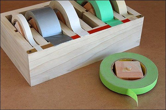 How to build a multiple roll tape dispenser | DIY projects for ...