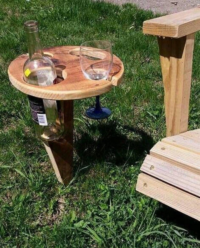 Build a portable wine table for picnics | DIY projects for ...
