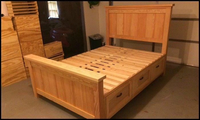 Farmhouse Bed with Drawers Main Image