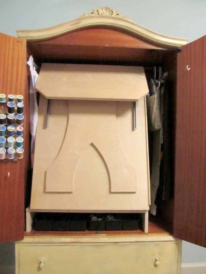 French Armoire Sewing Cabinet Diy Projects For Everyone