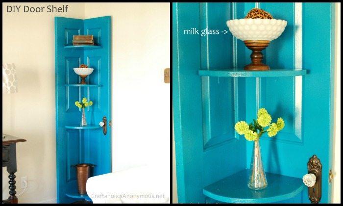 Old Door Corner Shelf Main Image