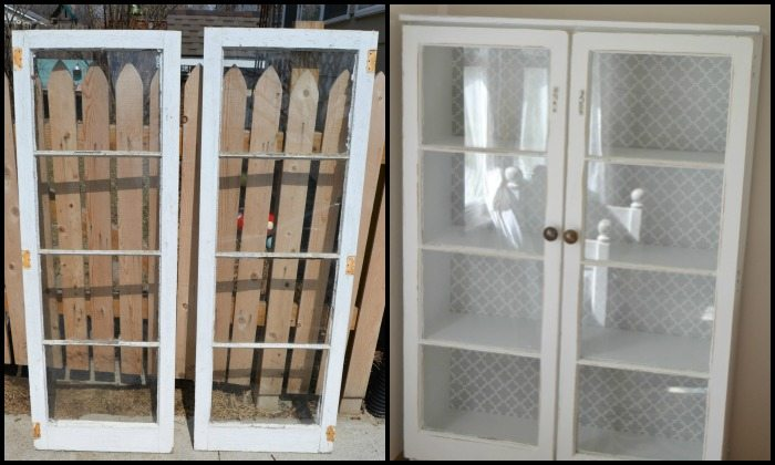 Turn an old window into a cabinet