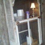 Old Window Pane Cabinet