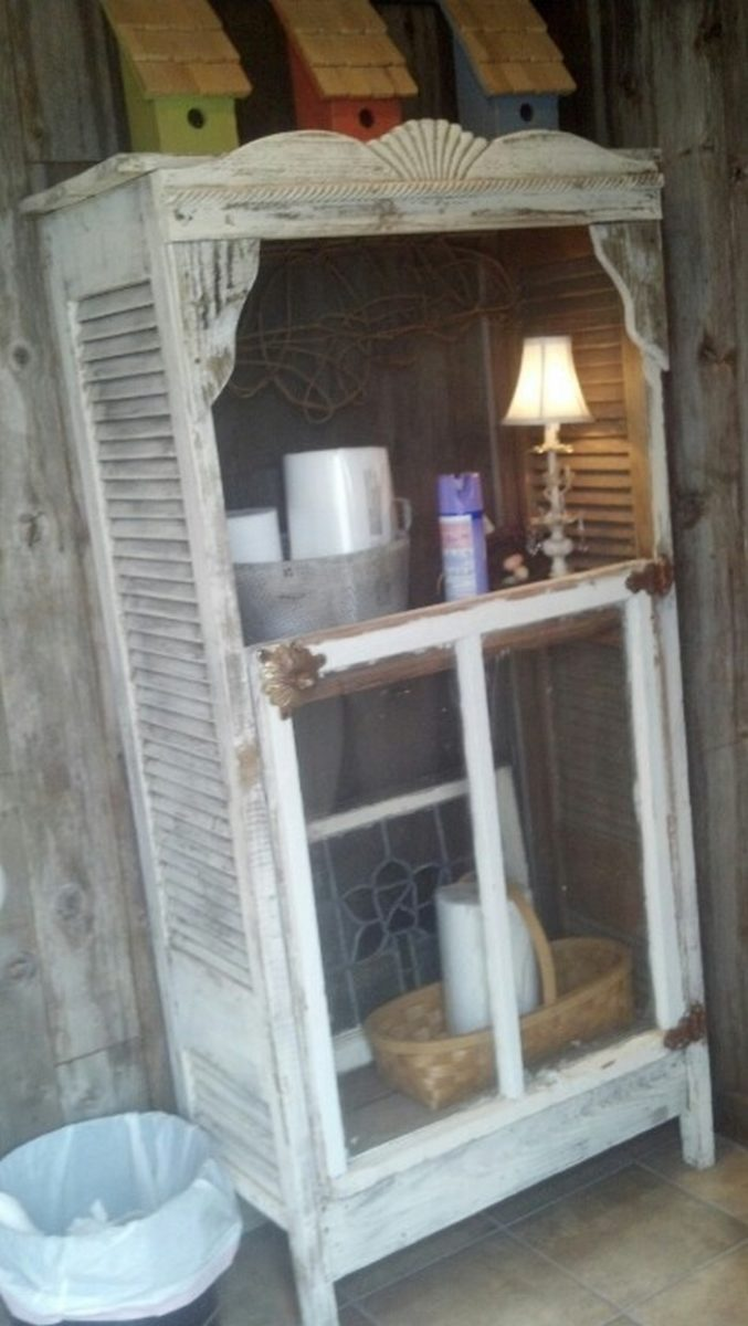 Turn Window Shower : Turn an old window into a cabinet diy projects for everyone