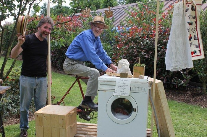 grid washing machine powered by foot pedal